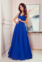 246-3 Royal Blue Sleeveless Maxi Dress
