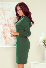 260-2 Overhead Hoodie Mini Dress In Green