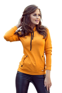 262-1 Overhead Hoodie with Pockets In Mustard