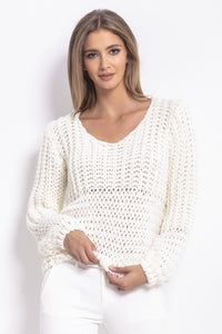 F760 Chunky Knit Alpaca-Blend Oversized Jumper In Ecru