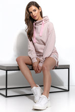 F942 Cotton Cowl-Neck Sweatshirt In Pink