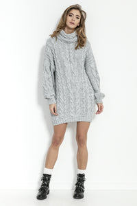 F860 Alpaca-Blend Jumper Mini Dress In Grey