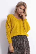 F778 Oversized Reversible Sweater In Ceylon-Yellow