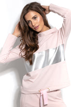 F938 Cotton Sweatshirt Mini Dress In Pink