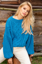 F866 Alpaca-Blend Cable-Knit Sweater In Blue