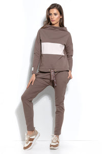 F938 Cotton Sweatshirt In Brown