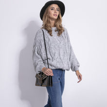 F840 High-Neck Sweater In Grey