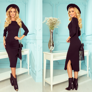 331-2 Cotton-Blend Bodycon Midi Dress In Black