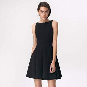 S143 Fit & Flare Mini Dress In Black