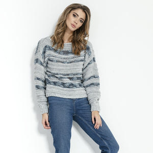 F858 Alpaca-Blend Sweater In Grey