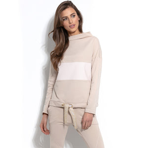 F938 Cotton Sweatshirt In Beige