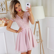 2180-20 Tulle & Embroidered Mesh Mini Dress In Dusty Pink