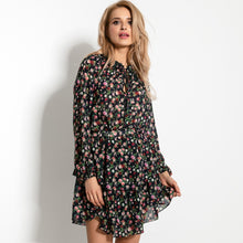 F919 Floral Two Piece Mini Dress In Black