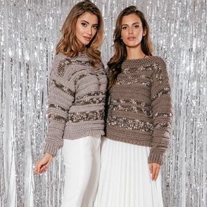F858 Alpaca-Blend Sweater In Brown