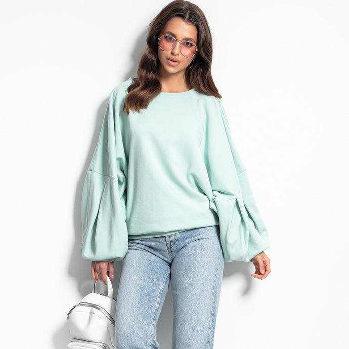 F1086 Sweatshirt With Wide Sleeve In Mint