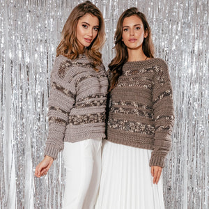 F858 Alpaca-Blend Sweater In Beige