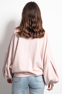 F1086 Sweatshirt With Wide Sleeve In Pink