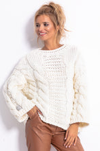 F780 Chunky Knit Jumper In Ecru