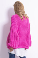 F790 Chunky Knit High-Neck Jumper In Pink