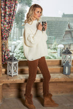 F612 High-Neck Alpaca-Blend Glitter Sweater In Ecru