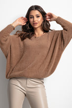 F1070 Oversized Wide Sweater In Carmel
