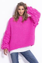 F810 Chunky Knit Jumper In Pink