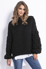F810 Chunky Knit Jumper In Black