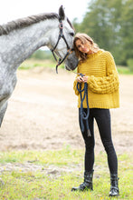 F810 Chunky Knit Jumper In Ceylon Yellow
