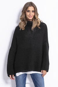 F811 Alpaca-Blend Turtleneck Sweater In Black