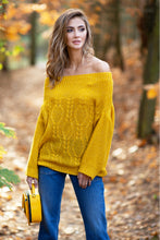 F836 Cable-Knitted Sweater In Ceylon-Yellow