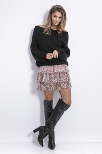 F836 Cable-Knitted Jumper In Black