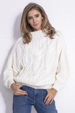F840 High-Neck Sweater In Ecru