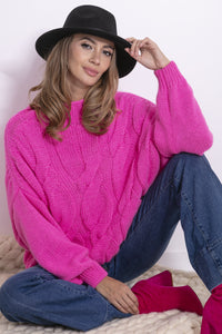 F840 High-Neck Alpaca-Blend Jumper In Pink