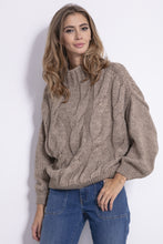 F840 High-Neck Sweater In Brown