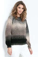F886 Ombre-Effect Sweater In Brown