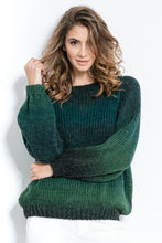 F886 Ombre-Effect Sweater In Olive