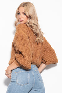 F1107 Alpaca-Blend Turtleneck Sweater In Carmel
