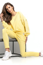 F940 Cotton Sweatshirt With Ring Detail In Lemon-Yellow