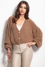 F1062 Wide Short Cardigan In Carmel