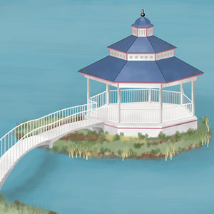 This charming and romantic gazebo inspires children to create narrative story telling.