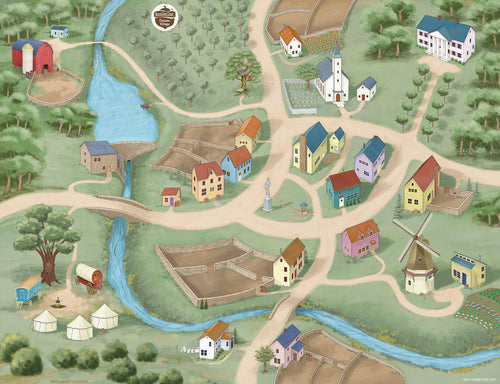 Caravan Village Play Mat
