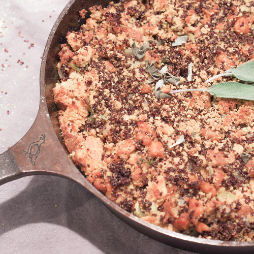 Sausage, Red Quinoa, and Cornbread Dressing (Stuffing)