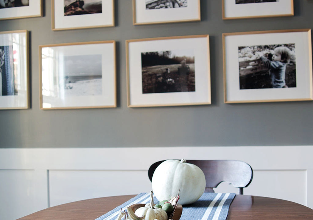 Gallery Wall Refresh: Framing Fall Light