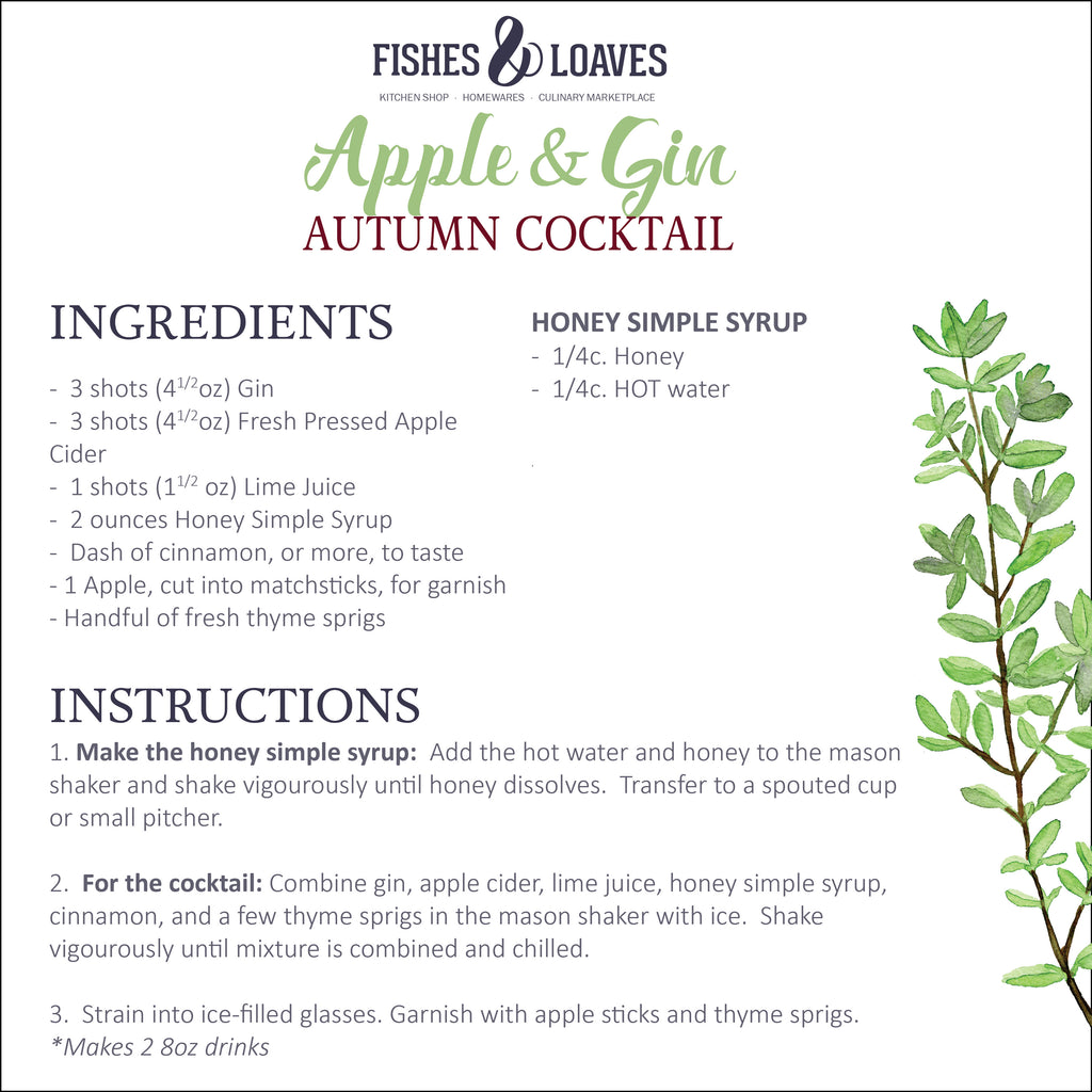 Apple and Gin Autumn Cocktail Recipe - Fishes and Loaves