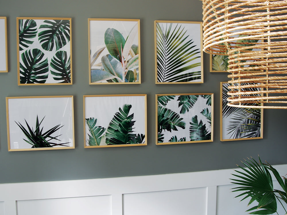 Palm Leaf Print Modern Gallery Wall