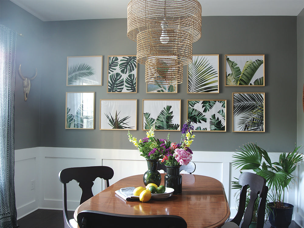 Palm Leaf Print Gallery Wall