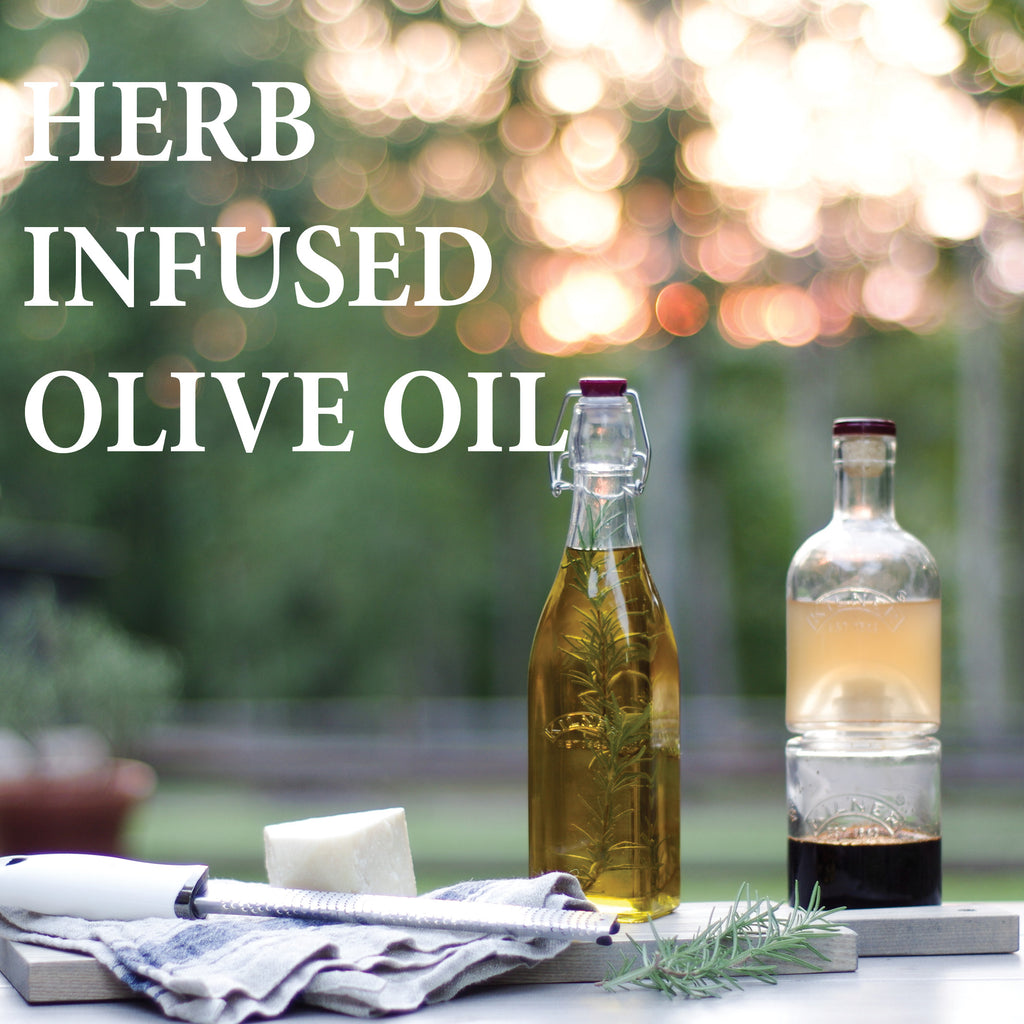 Rosemary Herb-Infused Olive Oil - Kilner Bottle - Fishes and Loaves