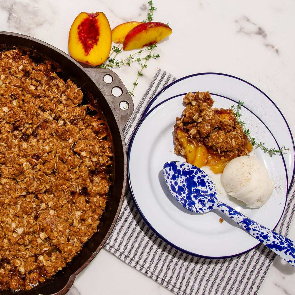 Iron Skillet Peach Crisp Crumble