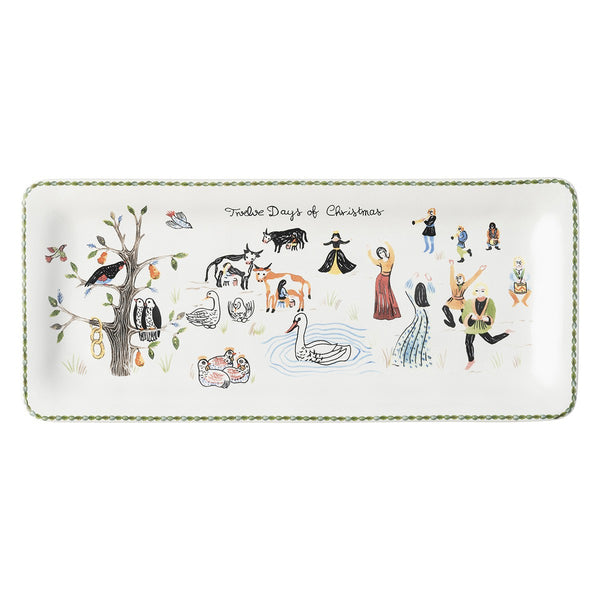 12 Days of Christmas - Rectangular Hostess Tray - Fishes & Loaves