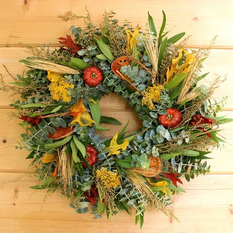Fresh & Fragrant Autumn Wreath - Fishes & Loaves